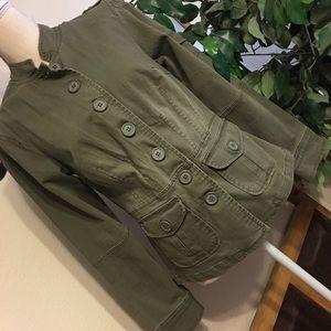 No Boundaries military style jacket NWOT M